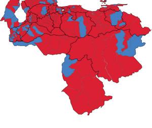 Distribuția mandatelor putere (roșu) vs. opoziție (albastru) la localele din 2013