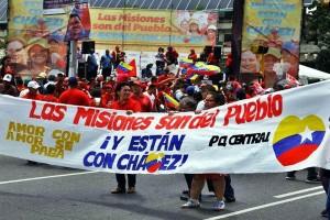 Manifestație de sprijin pentru misiunile bolivariene.